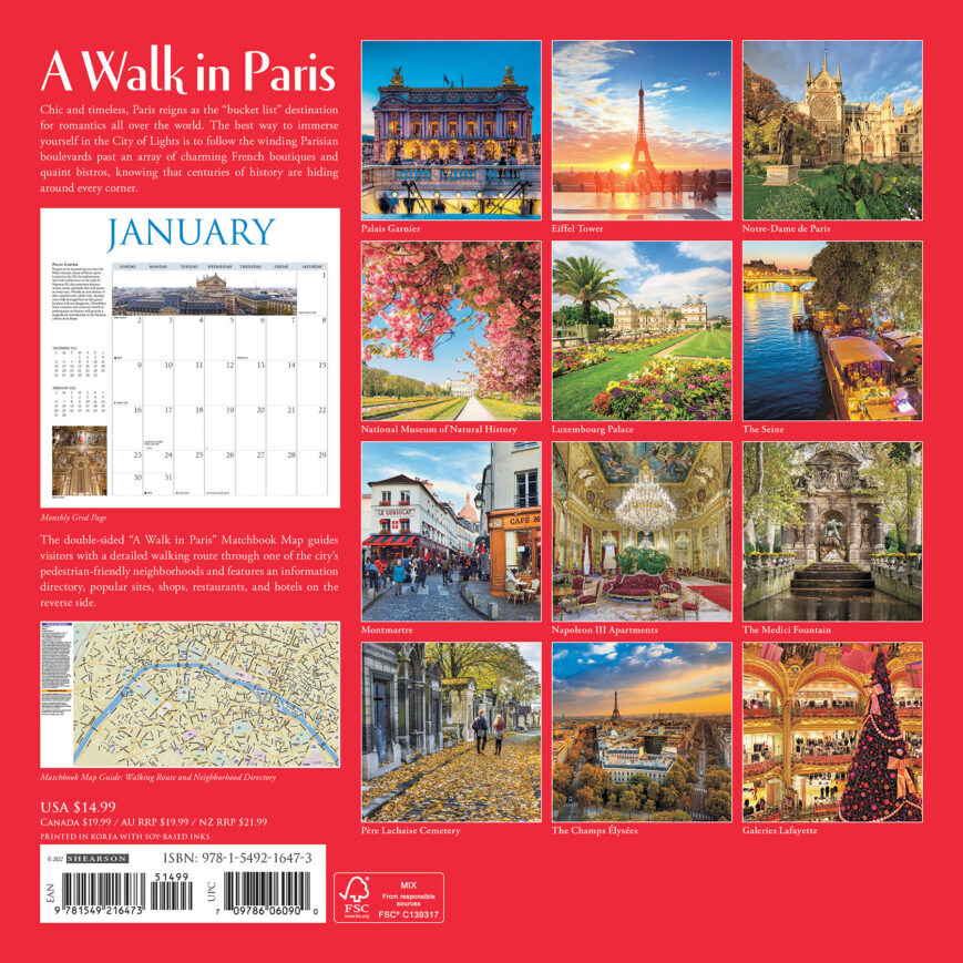 A Walk in Paris Kalender 2022