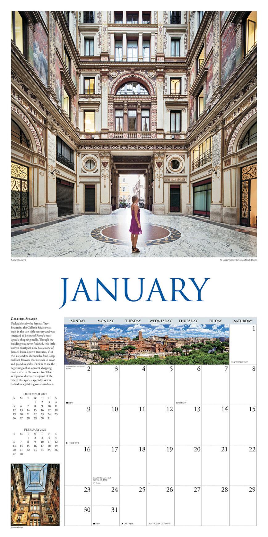 A Walk in Rome Kalender 2022