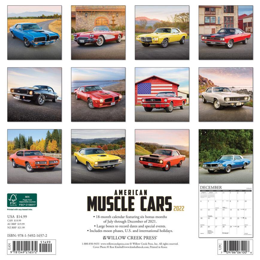 American Muscle Cars Kalender 2022