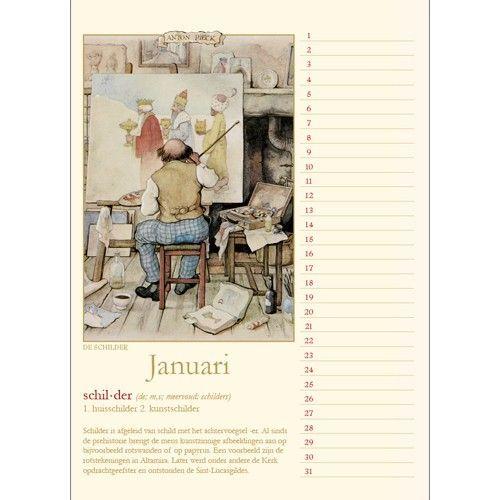 Anton Pieck 'Oude Ambachten' Verjaardagskalender
