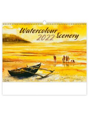 Aquarel Landschappen Kalender 2022