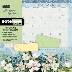 Botanical Gardens Pocket Note Nook Kalender 2022