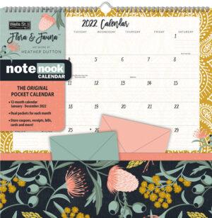 Flora en Fauna Pocket Note Nook Kalender 2022