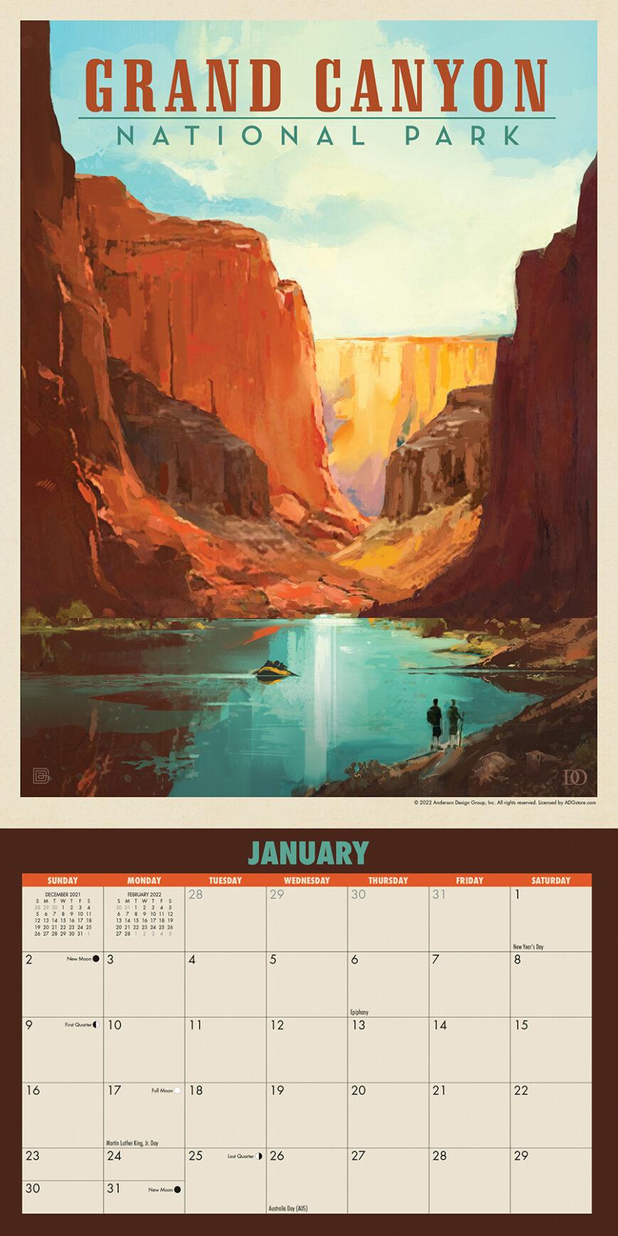National Parks Kalender 2022 Mini