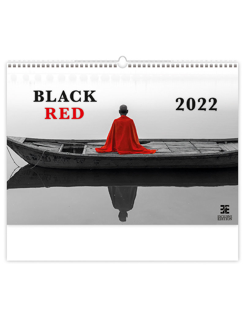 Zwart en Rood Kalender 2022