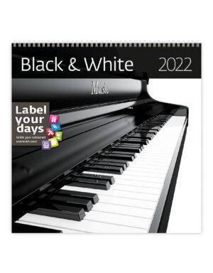 Zwart en Wit Kalender 2022